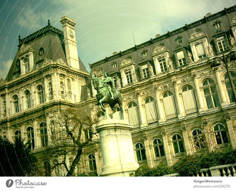 Paris - Building Human being Culture France Creepy Statue Architecture history tinted foil Colour