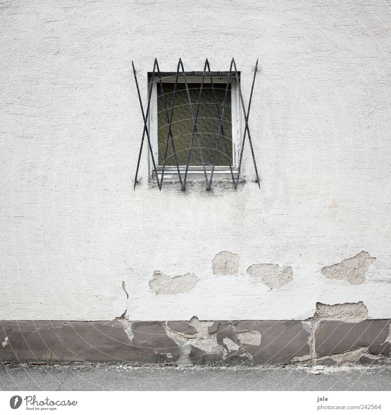 House (Residential Structure) Wall (building) Window Wall (barrier) Facade Gloomy Transience