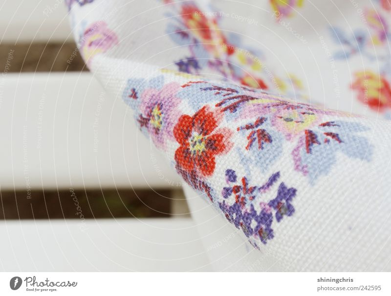 Relaxation Style Lifestyle Bench Cloth Near Friendliness Bag Stagnating Spring fever Flowery pattern