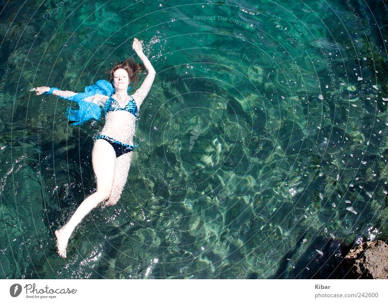Woman Human being Nature Youth (Young adults) Water Beautiful Summer Vacation & Travel Ocean Loneliness Feminine Freedom Adults Dream Waves Blonde