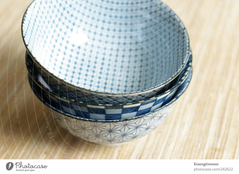 Made in Japan Bowl Style Flat (apartment) Esthetic Exotic Bright Beautiful Blue White Elegant Attachment pile Stack Japanese Empty Appetite Colour photo