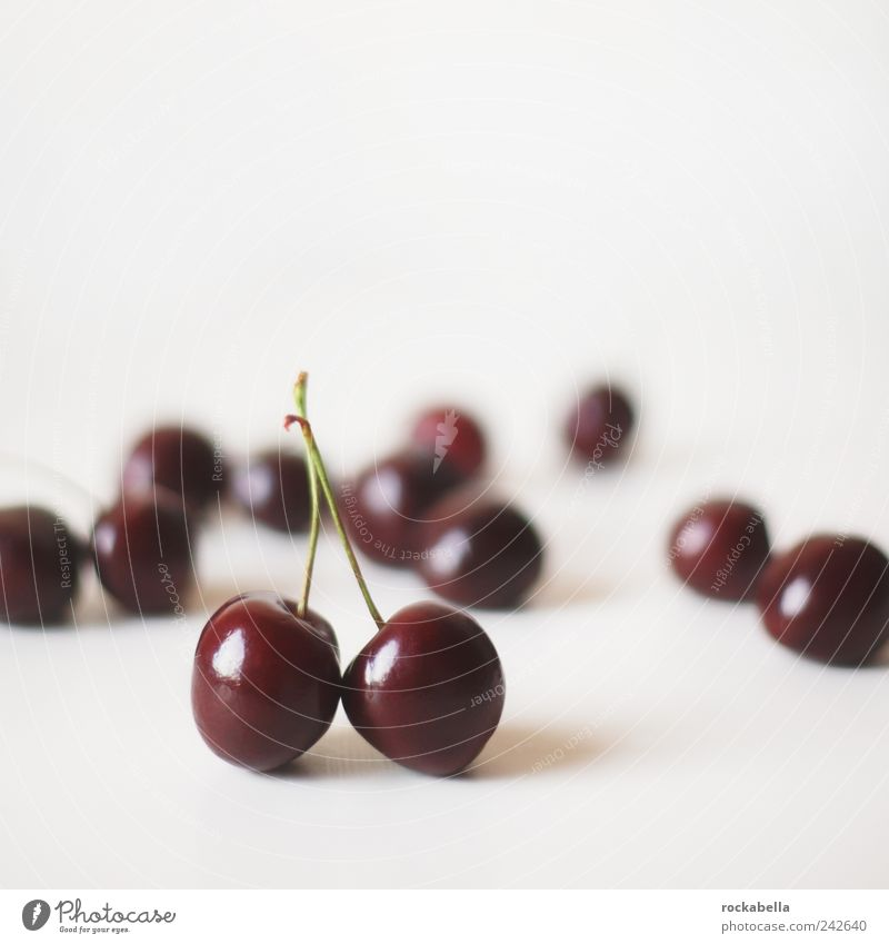 Red Summer Food Friendship Fruit Esthetic Sweet Pure To enjoy Attachment Cherry Loyal Food photograph
