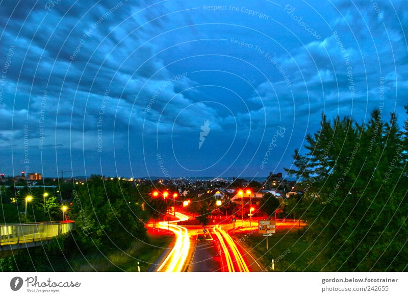 Pulse of the night Driving school Logistics Closing time Sky Clouds Storm clouds Night sky Gale Rain Thunder and lightning Town Transport Traffic infrastructure