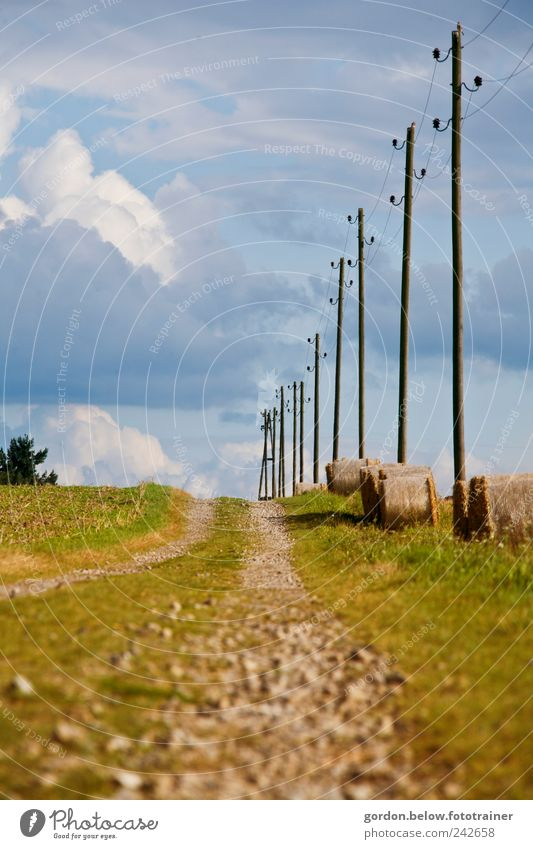 Lanes & trails Landscape Earth Driving Broken Target Footpath Electricity pylon Pebble Storm clouds Clouds in the sky Renewable energy