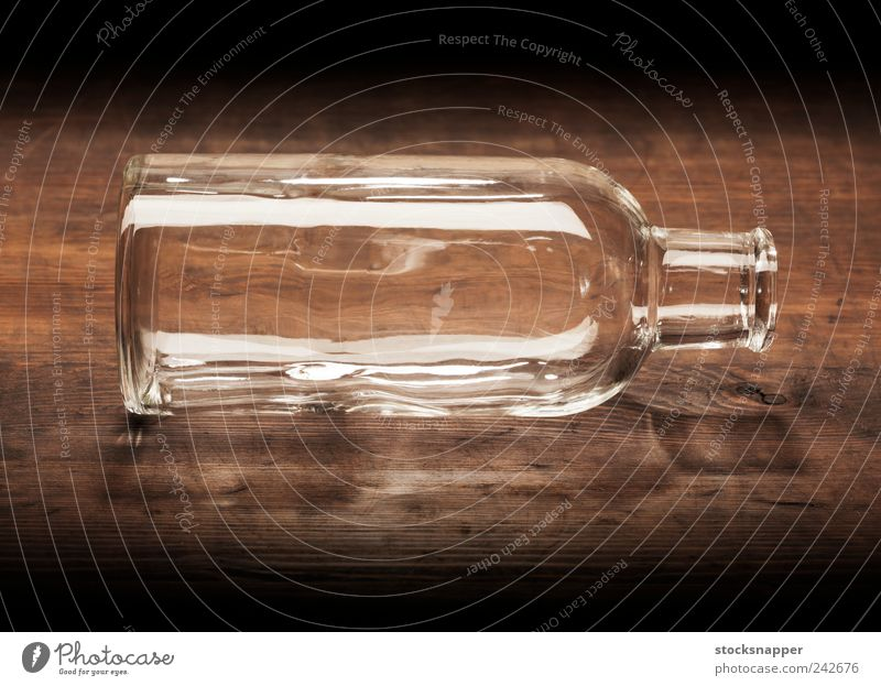 Empty bottle Open Hollow Old Vintage Deserted Transparent Wood Bottle Glass Old fashioned Object photography