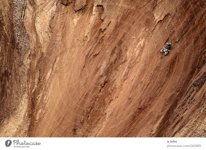 Human being Nature Loneliness Sports Mountain Sand Brown Power Dirty Masculine Tall Earth Lifestyle Adventure Stand Alps