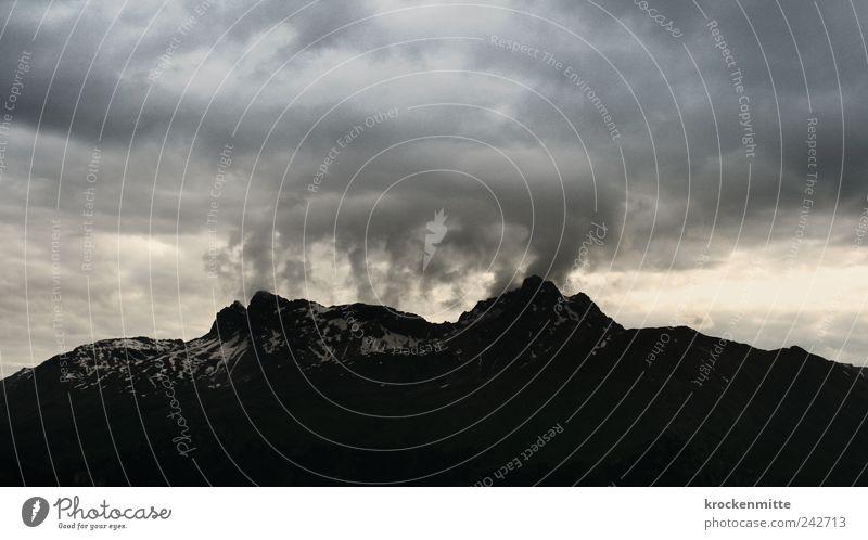 Nature Sky Black Clouds Dark Mountain Gray Rain Landscape Wind Rock Threat Switzerland Fantastic Gale Peak