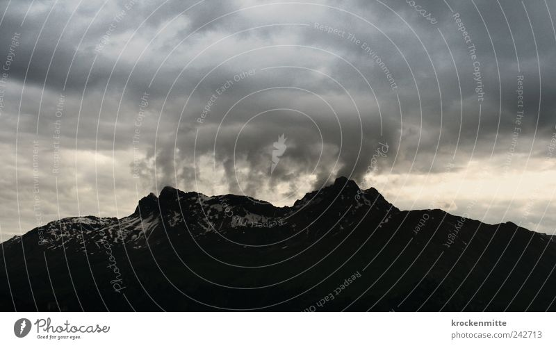 Nature Sky Black Clouds Dark Mountain Gray Rain Landscape Wind Rock Threat Switzerland Fantastic Gale Peak