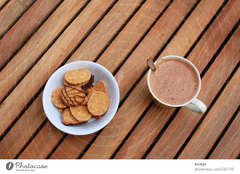 Style Brown Line Esthetic Sweet Simple Break Food photograph To enjoy Coffee Delicious Candy Cup Harmonious Bowl Baked goods