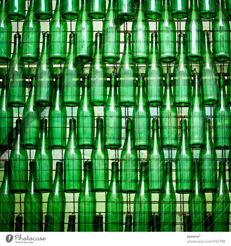 Bottle party! Design Glass Green Colour photo Deserted Maximum Glass wall X-rayed Glassbottle