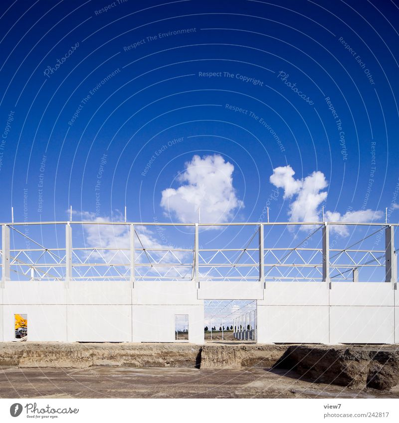 Sky Blue Clouds House (Residential Structure) Far-off places Wall (building) Wall (barrier) Building Facade Arrangement Beginning Fresh Growth Climate New