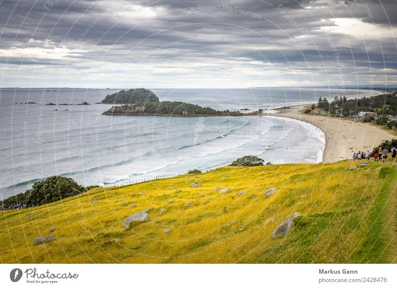 Mount Maunganui New Zealand Relaxation Summer Beach Sand Yellow Gray tauranga maunganui Auckland plenty sky City Iceland water sea tourism ocean cloud mount