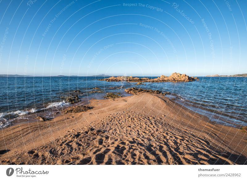 Sardinia headland (north), sea Vacation & Travel Tourism Trip Freedom Summer Summer vacation Sun Beach Ocean Island Waves Landscape Cloudless sky Horizon