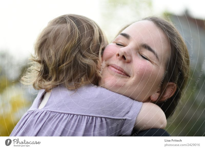 hug - mother - child - enjoy Mother's Day Parenting Child Feminine Toddler Young woman Youth (Young adults) Adults 2 Human being 1 - 3 years 18 - 30 years