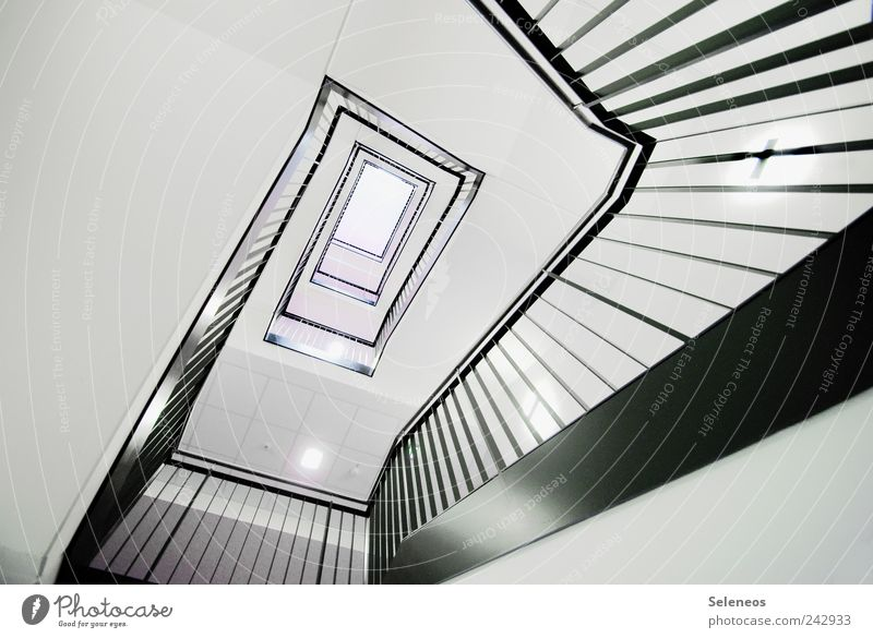 White Black House (Residential Structure) Lamp Wall (building) Above Wood Wall (barrier) Line Bright Elegant High-rise Stairs Esthetic Living or residing Stripe