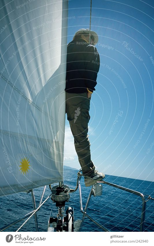 Sailing tour in Croatia Sports Aquatics Human being Masculine Man Adults 30 - 45 years Water Sunlight Summer Ocean Boating trip Sport boats Yacht Sailboat