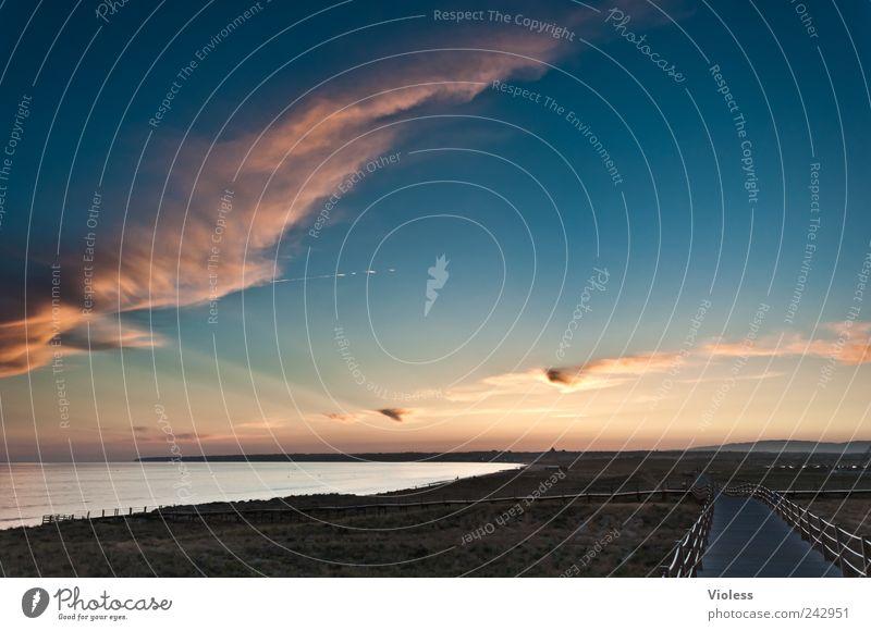 Nature Sky Ocean Beach Relaxation Landscape To enjoy Portugal Algarve Wisp of cloud
