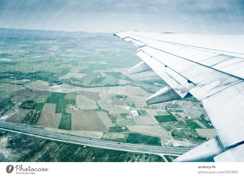 Sky Vacation & Travel Far-off places Street Cold Landscape Air Field Airplane Flying Transport Tall Aviation Technology Tourism Airplane takeoff