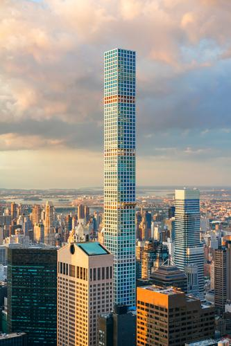 432 Park Avenue construction in New York City Vacation & Travel Tourism Sightseeing Summer Landscape Earth Sky Downtown Skyline High-rise Building Architecture