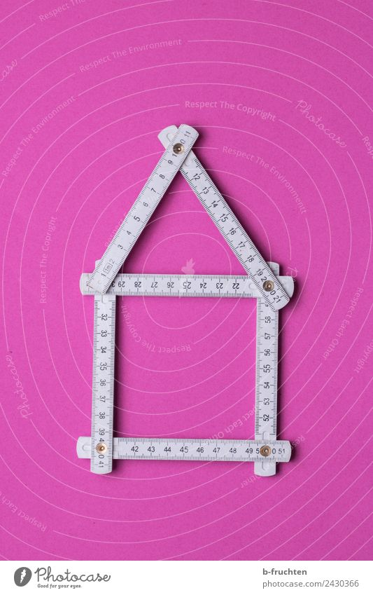 Zollstock - House construction - Planning Measuring instrument Pink White Accuracy Living or residing Future Attachment Metre-stick