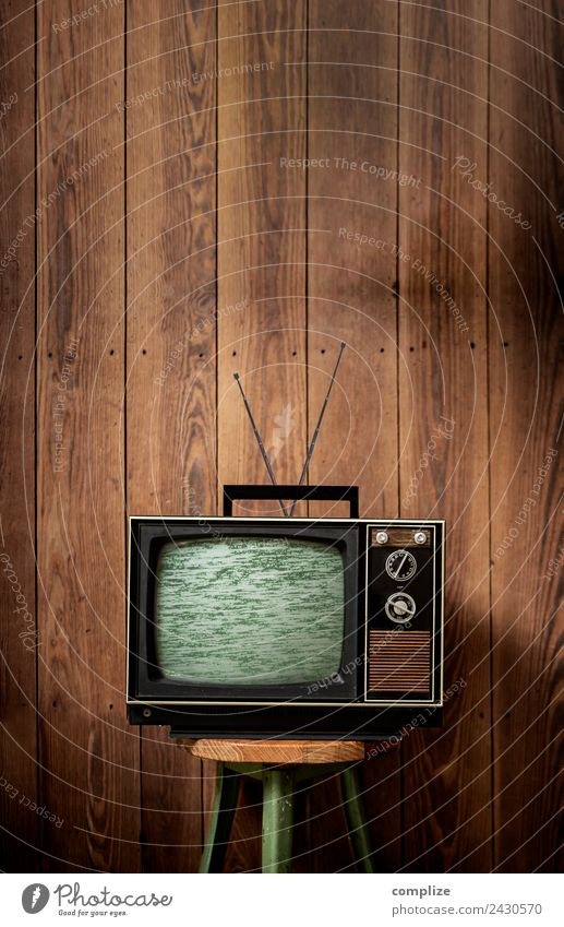 70s television set in front of wooden wall Flat (apartment) Redecorate Moving (to change residence) Interior design Room Living room Attic Parenting