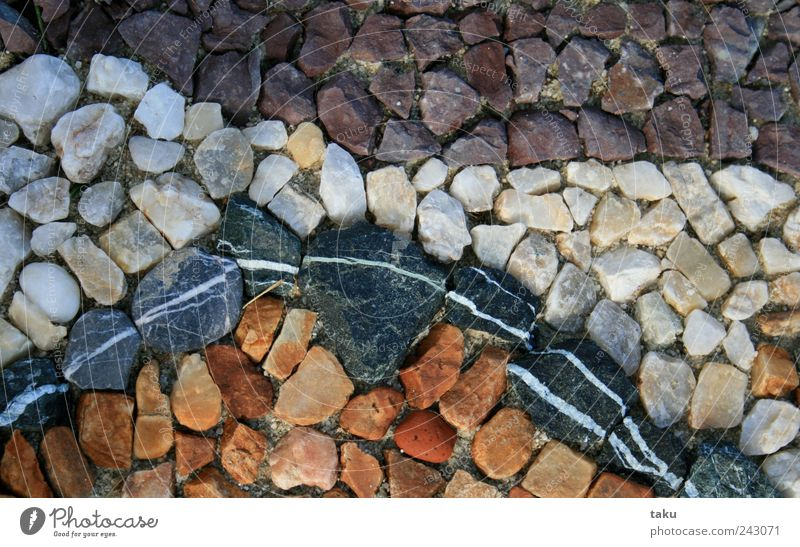 COUNTRY I Art Work of art Nature Elements Earth Sand Garden Stone Line Multicoloured Yellow Violet Black White Creativity Transience Colour photo Exterior shot