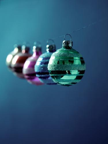 170 photos, but only 155 days until Christmas ... Glass Kitsch Glitter Ball Multicoloured Arrangement Hang Green Blue Blue tint String Feasts & Celebrations