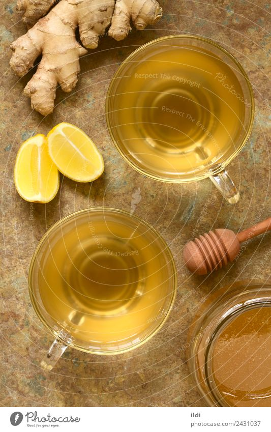 Ginger Tea Herbs and spices Beverage Alternative medicine Fresh Natural food ginger drink herbal Root rhizome folk healthy Home-made infusion cup honey Lemon