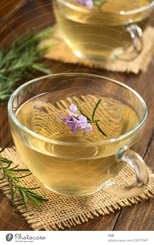 Rosemary Herbal Tea Herbs and spices Alternative medicine Flower Leaf Fresh Natural food drink herbal rosmarinus officinalis healthy remedy tisane Aromatic
