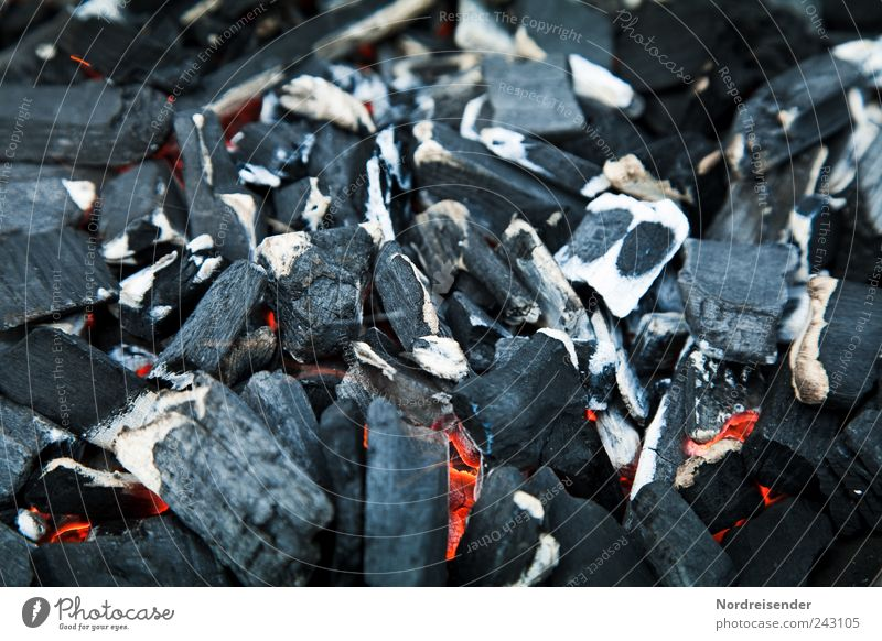 warm Barbecue (apparatus) Coal Charcoal Embers Glow Burn Barbecue (event) Black charcoal grill Structures and shapes Surface Heat Fire Colour photo