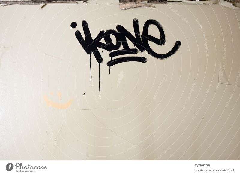 iconography Lifestyle Elegant Style Design Living or residing Wall (barrier) Wall (building) Characters Graffiti Esthetic Uniqueness Discover Freedom Mysterious