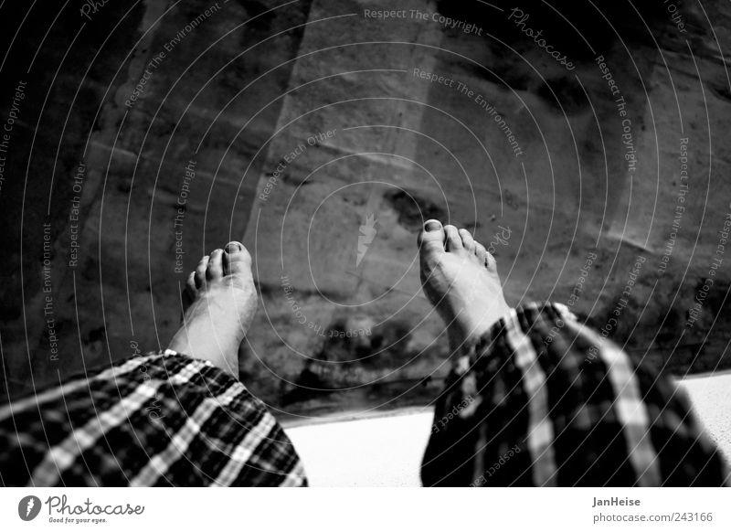 Human being Man Summer Calm Adults Relaxation Freedom Legs Feet Contentment Wait Masculine Free Wellness Trust Serene