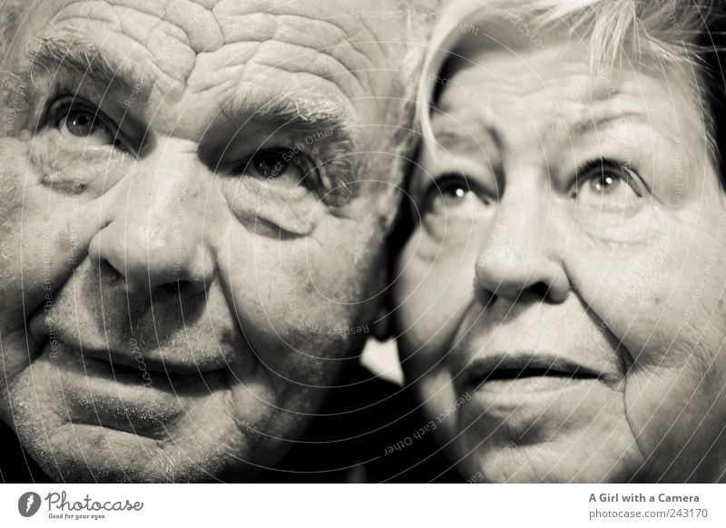 Human being Woman Man Old Face Adults Eyes Love Life Senior citizen Happy Couple Together Masculine Exceptional Authentic