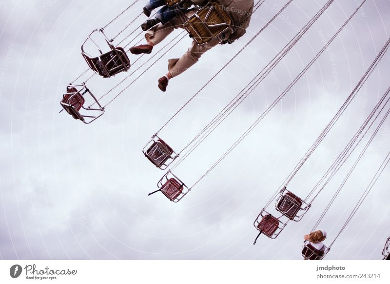 chain carousel Joy Trip Event Youth culture Rotate Flying To swing Free Happiness Funny Joie de vivre (Vitality) Fear of flying Freedom Leisure and hobbies