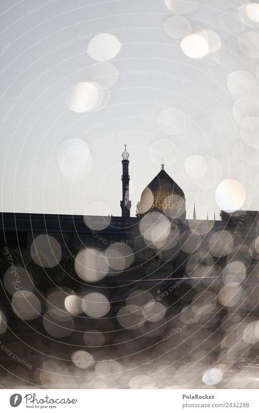 #A# Dresden Sparks Art Esthetic Yenidze Islam Back-light Particle Roof Mosque Belief Cosmopolitan Colour photo Subdued colour Exterior shot Detail Experimental