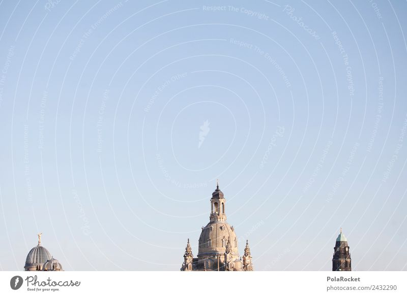 #A# Dresden lace Art Esthetic Saxony Germany Domed roof Frauenkirche City hall tower Skyline Tourist Attraction Colour photo Multicoloured Exterior shot Detail