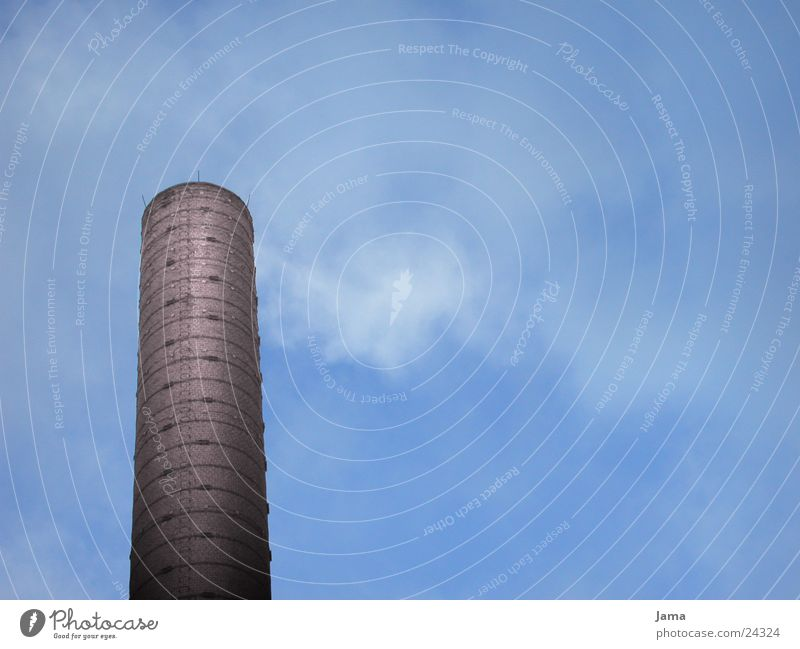 chimney Chimney Brick Clouds Air Exhaust gas Industrial construction Industry Sky