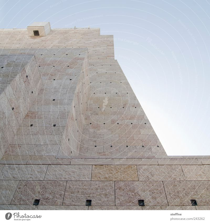 Wall (building) Wall (barrier) Facade Esthetic Strong Beautiful weather Museum Portugal Lisbon Pyramid Cloudless sky