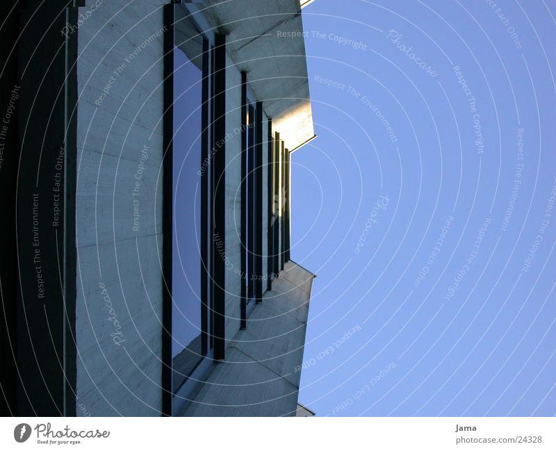 Sky Window Architecture Glass Concrete High-rise Facade Perspective Construction site