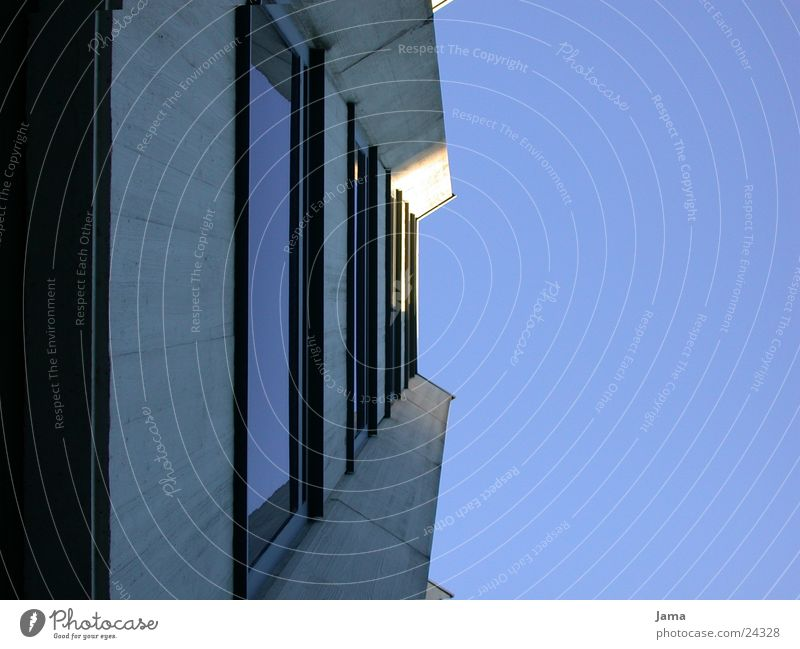 vista of heaven High-rise Concrete Window Facade Architecture Glass Sky Perspective Construction site