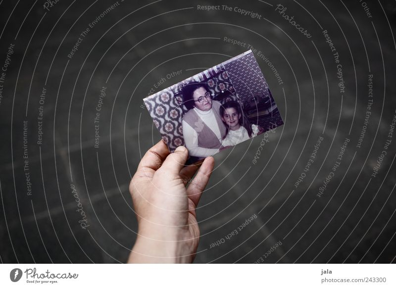 remembrance Human being Girl Woman Adults Grandmother Hand 1 Photography Honor Retentive Memory Souvenir Former Past Colour photo Exterior shot Copy Space left