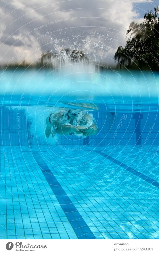 Submerged Lifestyle Joy Beautiful Well-being Relaxation Swimming & Bathing Leisure and hobbies Waves Sports Fitness Sports Training Aquatics Sportsperson Dive