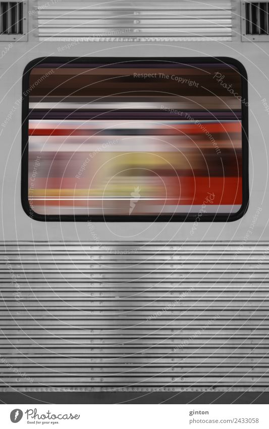 Abstract train window Means of transport Public transit Rail transport Train travel Railroad Commuter trains Driving Sharp-edged Simple Hip & trendy Speed Gray