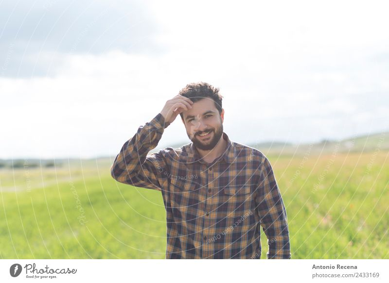 Bearded man Lifestyle Happy Human being Man Adults 1 Smiling Self-confident Loneliness Arabia hipster bearded full beard walking Sunset spring Mid adults 30s