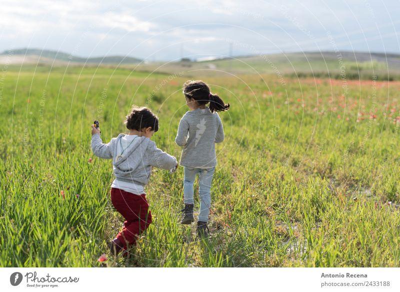Childhood Human being Beautiful Girl Boy (child) Playing Infancy To enjoy Walking Baby Running Toddler Anonymous Sister 3 - 8 years 1 - 3 years