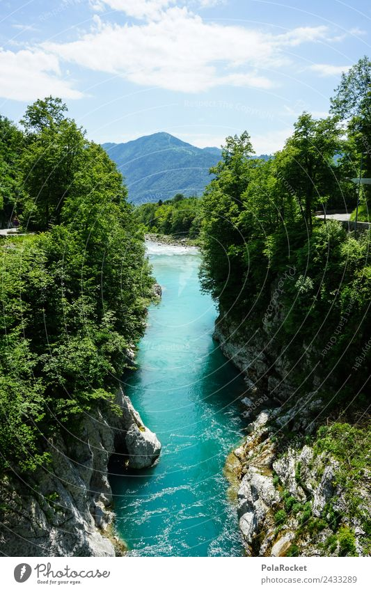 Nature Vacation & Travel Blue Green Water Happy Rock Hiking Alps Kitsch Turquoise Considerable Nature reserve Perfect Natural phenomenon Current