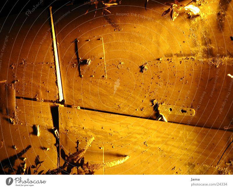 Old Yellow Door Tracks Rust Photographic technology