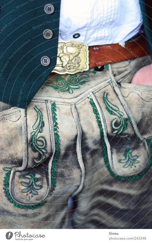 Man Joy Adults Masculine Bavaria Oktoberfest Belt Costume Lederhosen Embroidery