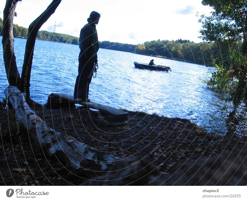 Woman at the lake Lake Watercraft Tree Stand