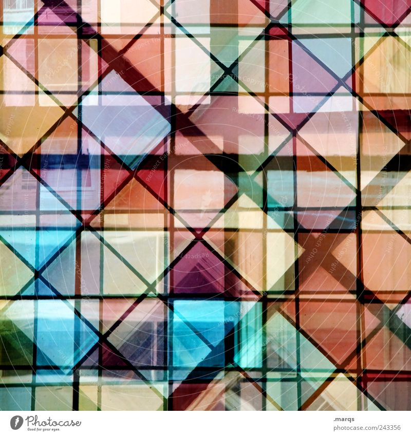 double layer Style Design Decoration Glass Line Exceptional Sharp-edged Hip & trendy Uniqueness Many Multicoloured Chaos Colour Complex Double exposure Tile